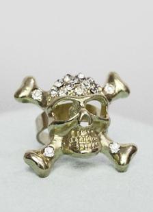 gold-pirate-skull-pattern-rings