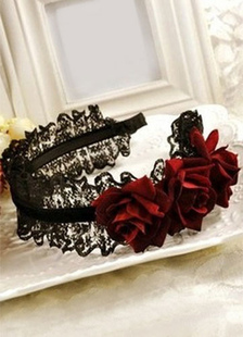 gothic-lace-red-flower-headwear