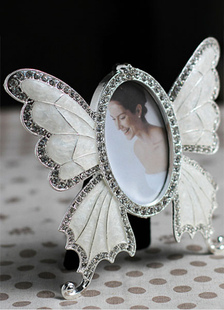 wedding-picture-frame-white-small-size-rhinestone-butterfly-wedding-favor