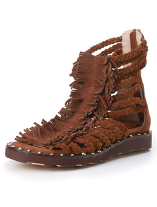 flat-sandals-fringe-knitted-sandal-boots