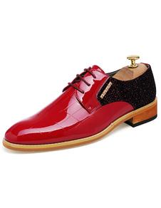 Dedo del pie redondo de encaje hasta zapatos de vestir