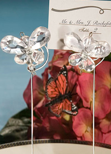 silver-card-holder-concise-butterfly-wedding-reception