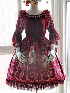 vintage-wine-lolita-blouse-fabric-half-hime-sleeves-lace-trim-ruffles