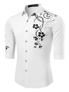 white-half-sleeves-printed-shrit-for-men