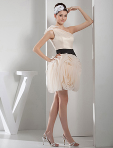 one-shoulder-homecoming-dress-flowers-organza-pleated-short-prom-dress-mini-graduation-dress