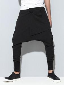 Image of Pantaloni Harem da uomo Pantaloni con cavallo basso Pantaloni Ha