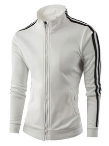 Abrigos y chaquetas de cuello alto blanco chaquetas deportivas hombre chaqueta cremallera vintage chaqueta