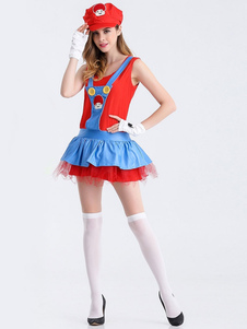 Image of Super Mario Bros adulto Ladies gonna Holloween costumi Carnevale