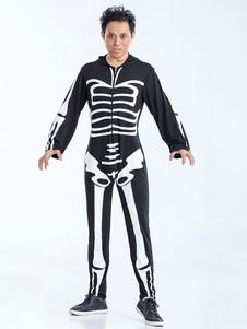 Image of Bianco e nero scheletro adulto Costume uomo Carnevale