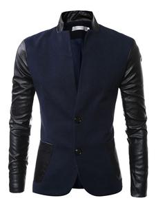 Image of Giacca casual da uomo in blazer di cotone