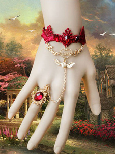 gothic-lolita-bracelet-red-lace-jeweled-metal-details-lolita-accessories-with-ring
