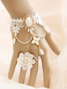 white-lolita-bracelet-lace-jeweled-flower-chain-lolita-accessories-with-ring