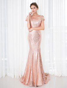 sequin-evening-dress-mermaid-court-train-backless-short-sleeves-vintage-red-carpet-dress
