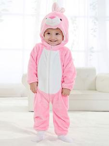 kigurumi-pajamas-bunny-onesie-flannel-girls-pink-sleepwear-rabbit-costumes