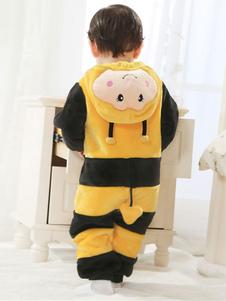 kigurumi-pajamas-bee-onesie-flannel-toddlers-yellow-sleepwear-costumes