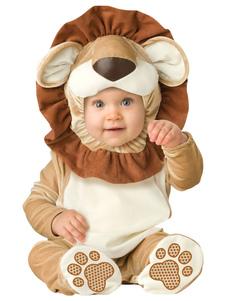 kigurumi-pajamas-lion-onesie-khaki-toddlers-flannel-sleepwear-costume