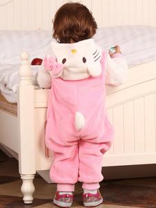 kigurumi-pajamas-hello-kitty-onesie-flannel-pink-baby-toddlers-cat-sleepwear-costume