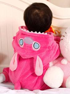 Image of Cucire il Costume Kigurumi flanella tuta pigiama Carnevale Cosplay Costume pigiameria per bimbo In rosa Carnevale