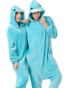 kigurumi-pajama-monster-oneise-blue-flannel-costume-for-couple