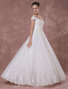 -Vestido de boda vestido encaje vestido de novia-lujo-vestido novia vestido