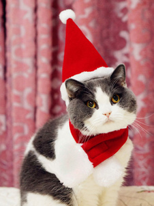 santa-clause-pet-costume-red-hat-scarf-for-cat