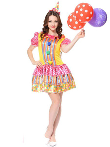 pink-clown-carnival-costume-outfits-2-piece-women-fancy-dress-with-headgear