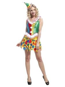 Clown Costume costume 3 pièces Carnaval Skirt des femmes Set Halloween