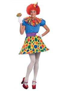 Image of Costume di carnevale donna parte Clown Costume 5 pezzo Carnevale
