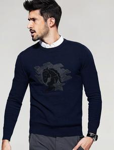 Image of Maglieria da uomo Pullover Maglia manica lunga girocollo maglia