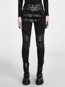 Steampunk des femmes pantalons pantalons Vintage Rivet noir gothique Halloween