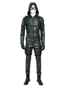 Image of Carnevale Arrow Season 5 Green Arrow Oliver Queen Costume cospla