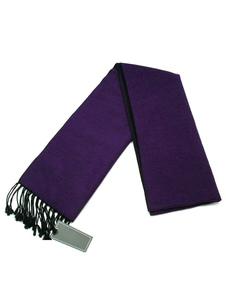 Bufanda de mezclada de lana de violeta oscura de color-blocking estilo informal
