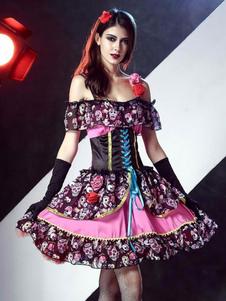 Sugar Vampire squelette Floral robe de mariée tenue Skull Costume Halloween femme Halloween