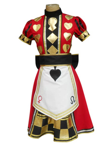 Image of Alice: Madness Returns Alice Poker vestito Cosplay Costume Carne