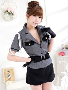Image of Costume abiti grigio Halloween polizia donna poliziotto sexy Costume femminile Halloween