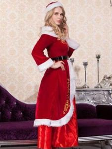 Image of Sexy Natale Santa Costume Abito rosso abiti per le donne Carnevale