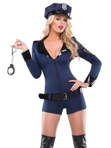 Image of La polizia blu donne abiti da poliziotto sexy Costume Carnevale Carnevale