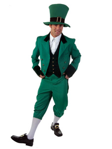 Image For Vestito verde vestito Day-uomo di Carnevale fata Costume Saint Patrick