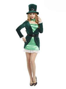 Image For Vestito di Carnevale mago Costume femminile vestito partito verde