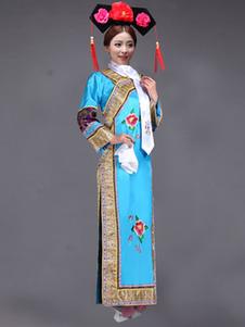 Image of Costumi Cinesi carnevale in raso accessori per la testa&abito set cina