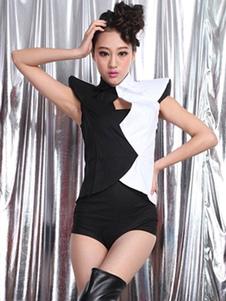 Image For Costumi di Danza jazz di poliestere per donna danza set pantaloncini&top sulla danza jazz
