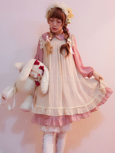 white-sweet-lolita-one-piece-dress-antique-doll-rayon-lolita-op