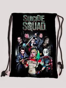 Image of Suicide Squad tutti membri modale Zaino anime nero  Carnevale