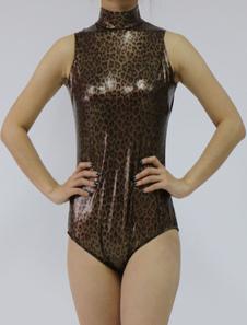 Image of Abbigliamento metallizzato marrone scuro cosplay fibra di poliestere gomma metallizzata per donna  Carnevale