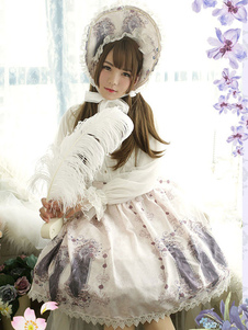 Image of Gonna classica Lolita Sk Skirt Neverland incantata magica gonna pieghettata