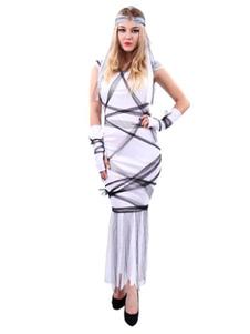 Image of Costume spaventoso di Carnevale Costume Bianco Principessa Donna Vestito lungo con guanti e copricapo Carnevale