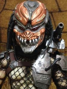 Image of Accessorio del costume di Carnevale Alien arancione VS Predator Resina Maschera spaventosa Carnevale