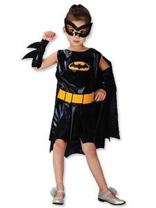 Image of Costume cosplay per bambini set nero polsiere cintura Batman di poliestere Cosplay Interpretazione Halloween in poliestere per ragazzo
