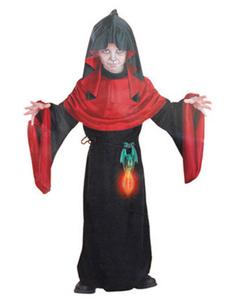 Image of Abito in poliestere nero della streghe dei bambini di costume di Carnevale dei capretti con la mascherina e l'accessorio Carnevale