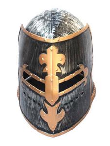 Image of Accessorio del costume romano in resina unisex del casco nero di Carnevale Carnevale
